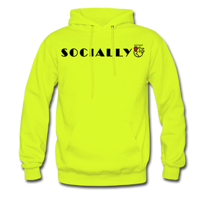 Socially Distant Hoodie - safety green