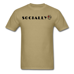Socially Distant T-Shirt - khaki