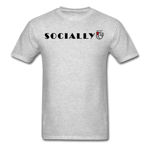 Socially Distant T-Shirt - heather gray