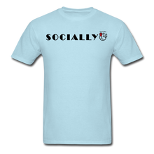 Load image into Gallery viewer, Socially Distant T-Shirt - powder blue