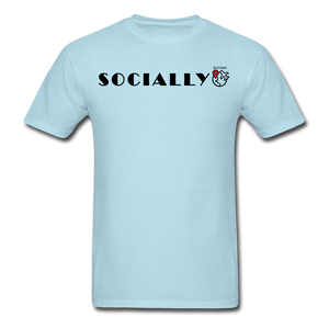 Socially Distant T-Shirt - powder blue