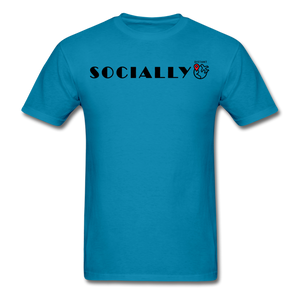Socially Distant T-Shirt - turquoise