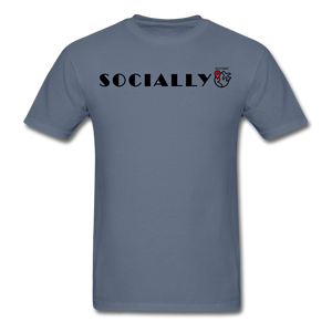 Socially Distant T-Shirt - denim