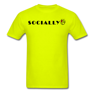 Socially Distant T-Shirt - safety green