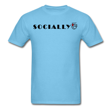 Load image into Gallery viewer, Socially Distant T-Shirt - aquatic blue