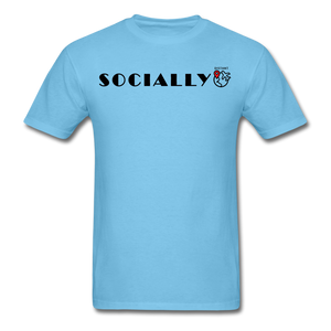 Socially Distant T-Shirt - aquatic blue