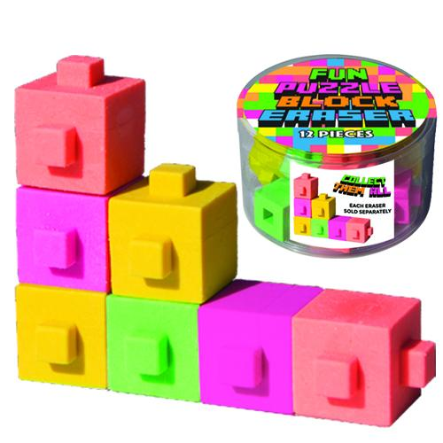 FUN PUZZLE BLOCK ERASER
