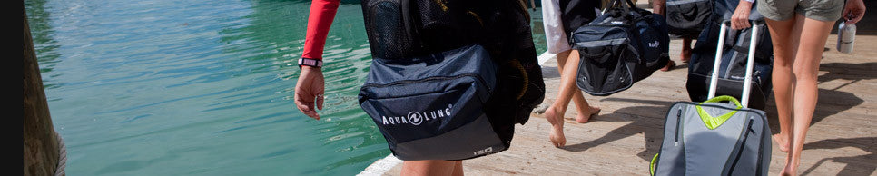 Keep your diving gear protected with the latest travel bags, regulator bags and backpacks from Aqua Lung, Apeks, Mares and Scubapro.