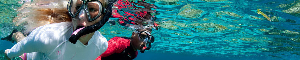 Stay in style and snorkel or dive in comfort with the latest Aqualung, Scubapro, Cressi and Mares masks, snorkels & fins.