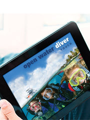 PADI Open Water Touch Manual included in the PADI Open Water Course