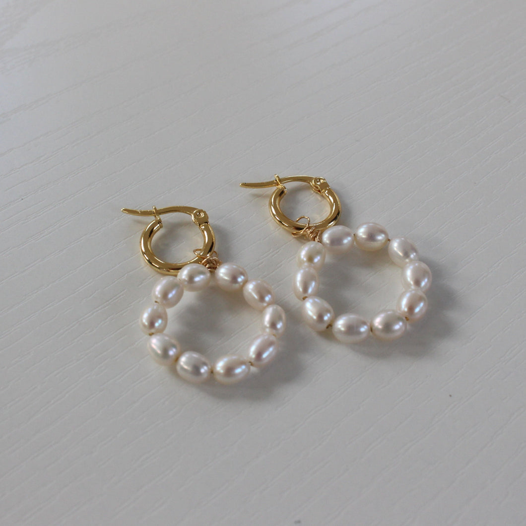 pearl mini earrings