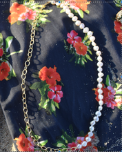 Load image into Gallery viewer, circle chain pearl necklace