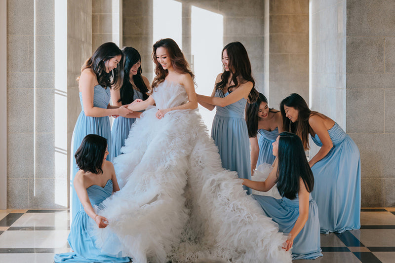 Willabelle Ong in bespoke wedding gown