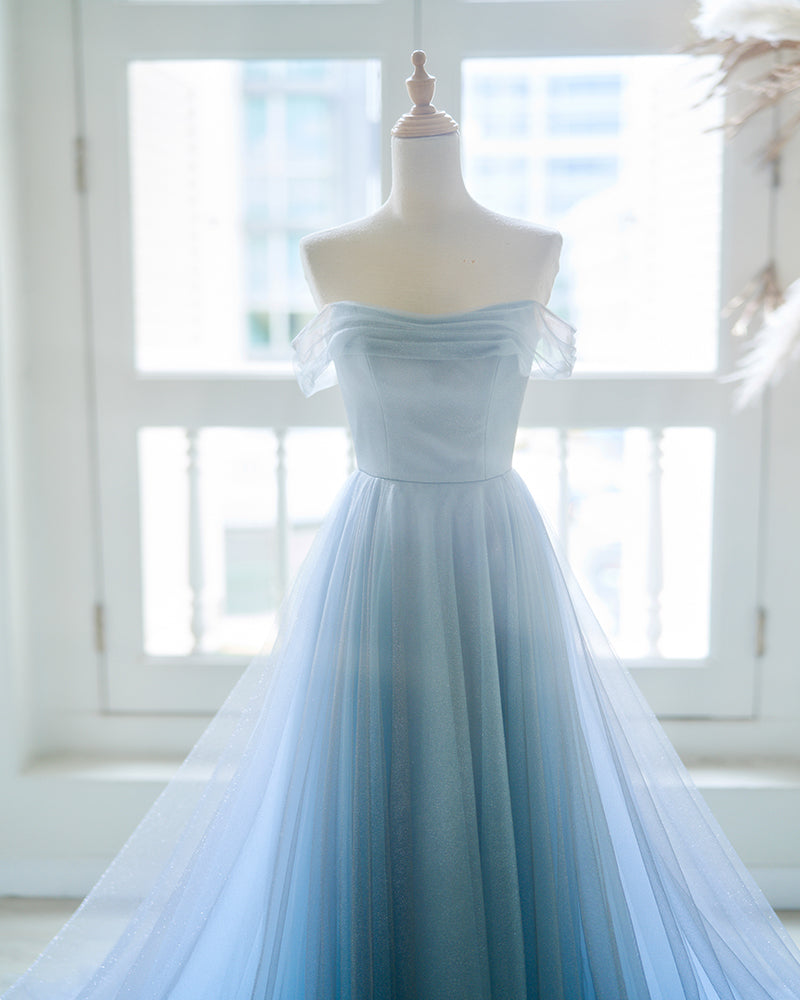 Ombre blue evening gown