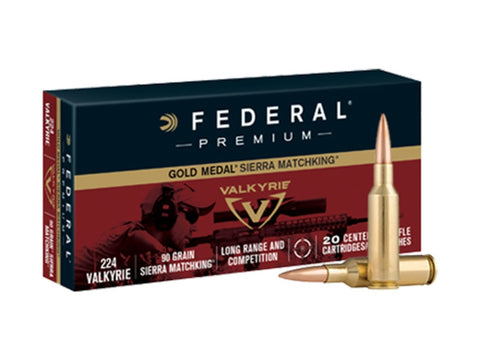 FEDERAL GM224 GOLD METAL 90GRSMK 20 RDS