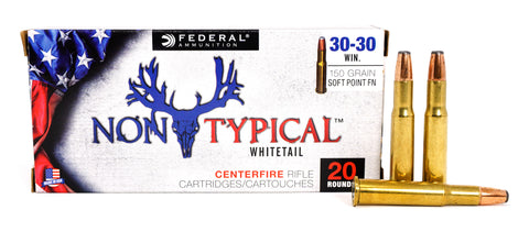 FEDERAL NON-TYPICAL WHITETAIL 30-30 WIN 150GR SP 3030DT150 20 RDS
