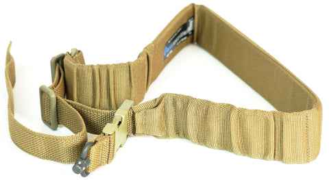BLUE FORCE GEAR PADDED BUNGEE SINGLE POINT SLING COYOTE BROWN PUSH BUTTON
