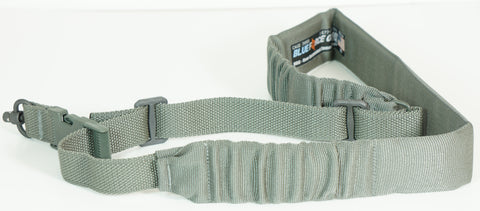 BLUE FORCE PADDED BUNGEE SINGLE POINT SLING FOLIAGE GREEN PUSH BUTTON ADAPTER