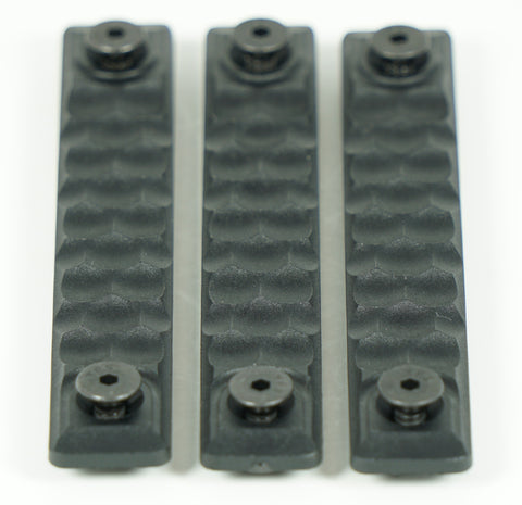 RAILSCALES HTP MLOK HONEYCOMB 2.5 SLOT BLACK 3 PACK