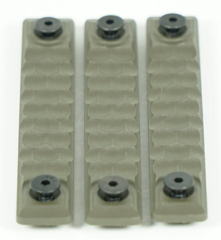 RAILSCALES HTP KEYMOD HONEYCOMB 5 HOLE OD GREEN 3 PACK