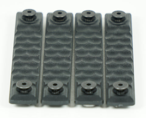 RAILSCALES HTP MLOK HONEYCOMB 2.5 SLOT BLACK 4 PACK