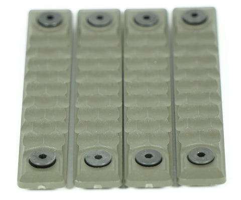 RAILSCALES HTP KEYMOD HONEYCOMB 5 HOLE OD GREEN 4 PACK