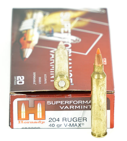 HDY 83206 204 RUGER 40GR VMAX 20 RDS