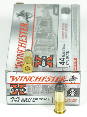 WINCHESTER 44 S&W SPECIAL 240GR LEAD NOSE USA44CB 50 RDS