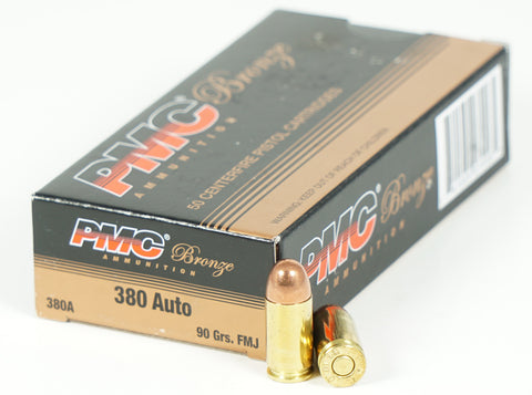 PMC 380 ACP 90GR FMJ 380A 50 RDS
