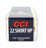 CCI 22 SHORT HP 0028 100 RDS