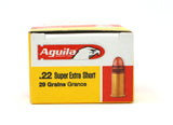 AGUILA STANDARD VELOCITY 22 SHORT 29GR COPPER PLATED RN 1B222110 50 RDS