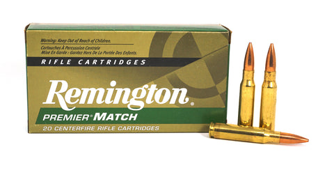 REMINGTON PREMIER MATCH 308 WIN 168GR HPBT 21485 RM308W7 20 RDS
