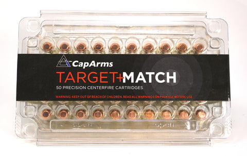 CAPARMS 38 SPECIAL 158GR RNFP TARGET MATCH M038N158B 50 RDS