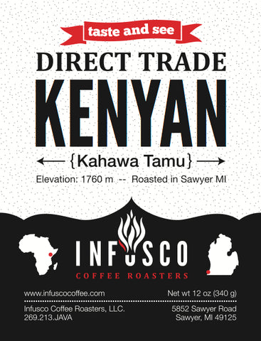 Kenyan Direct Trade coffee from INFUSCO Coffee Roasters