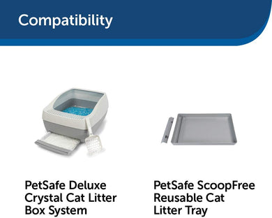 Crystal Cat Litter 4-Pack PetSafe ScoopFree  6 month supply -
