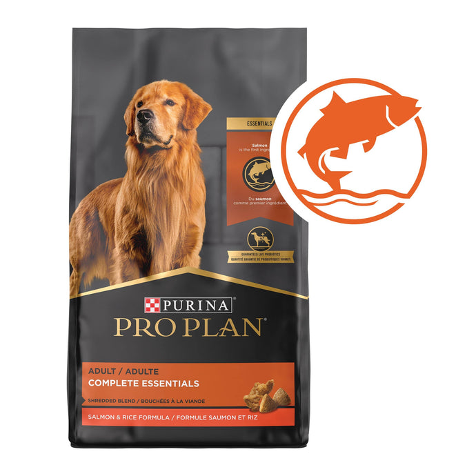 17 lb. Bag With Probiotics High Protein Dry Dog Food Shredded Blend Salmon & Rice Formula -