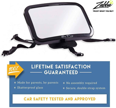 Baby Backseat Mirror for Car - View Infant in Rear Facing Car Seat -