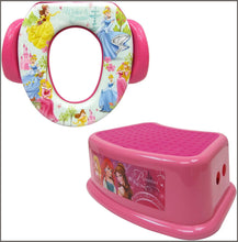 Load image into Gallery viewer, Disney Princess Potty Training Combo Kit - Contour Step Stool & Soft Potty, Pink -