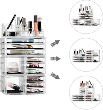 Load image into Gallery viewer, Felicite Home Acrylic Jewelry and Cosmetic Storage Makeup Organizer Set 4 Piece -