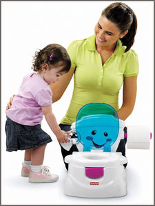 Fisher-Price P4324 My Potty Friend, Kids Toilet Training Seat with Sounds, Songs and Phrases to Encourage and Reward -