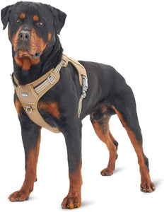 FIVEWOODY Tactical Service Dog Harness Training No Pulling Front Clip -