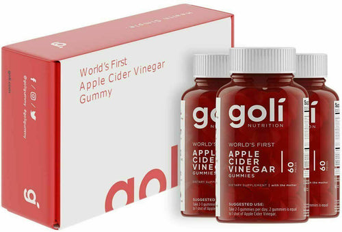 Goli Apple Cider Vinegar Gummy 3 bottle pack -