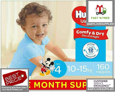 Huggies Nappies Boys Size 4 Toddle 160 -