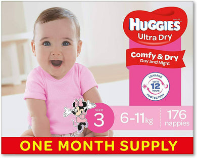 Huggies Nappies Girls Size 3 Crawler 176 -