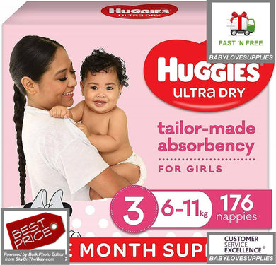 Huggies Nappies Girls Size3 Crawler176 -
