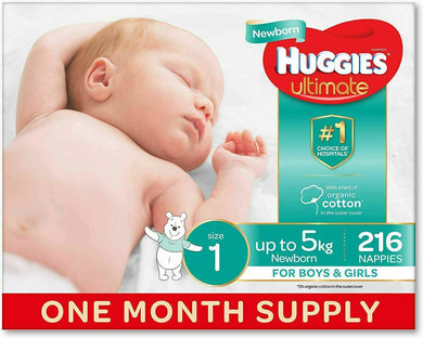 Huggies Nappies Size 1 Newborn 216 -