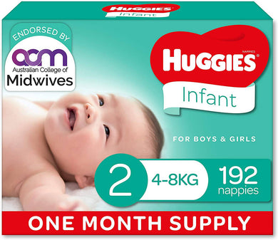 Huggies Nappies Size 2 Infant 192 -