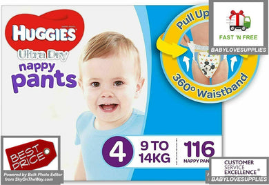 Huggies Nappy Pants boys Size 4 Toddler 116 -