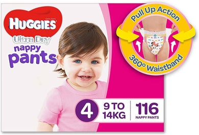 Huggies Nappy Pants Girls Size 4 Toddler 116 -
