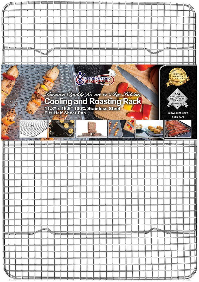 KITCHENATICS Professional Grade Stainless Steel Cooling and Roasting Wire Rack -